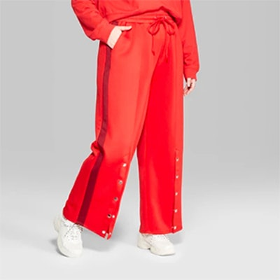 Wild Fable Women's Plus-Size Side-Snap Track Pants