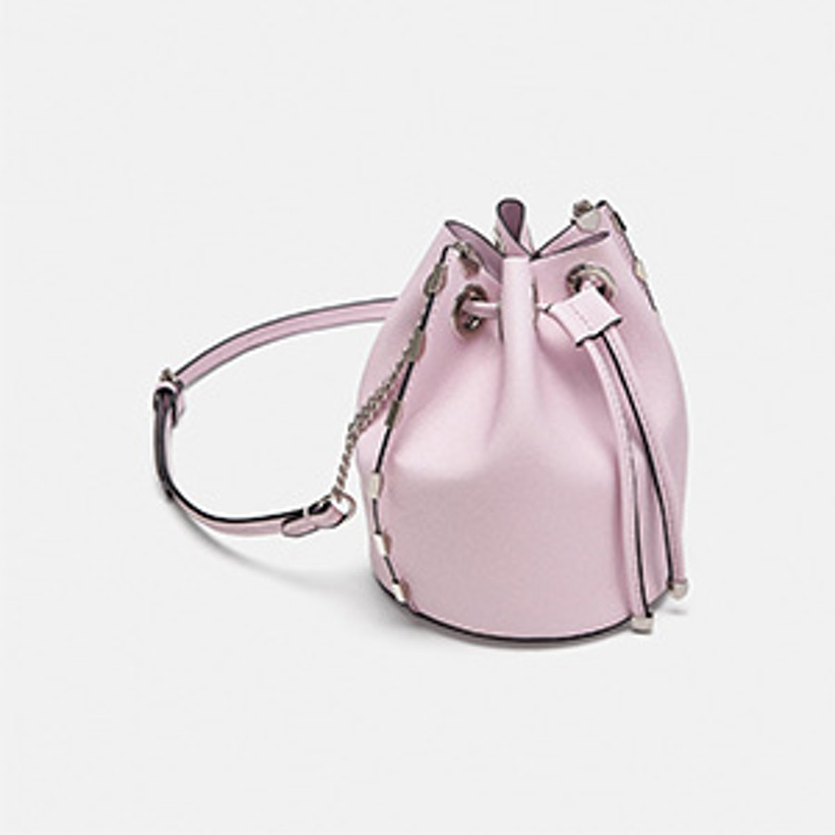 Mini Metallic Bucket Bag