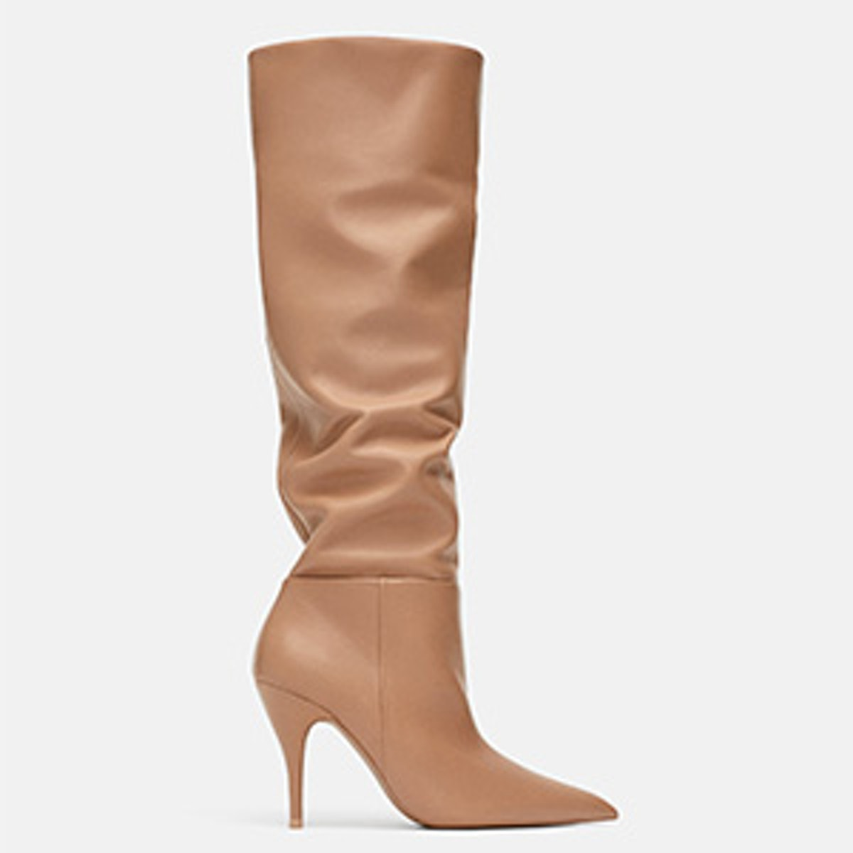 Soft Leather High Heeled Boots