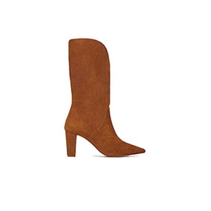 High Heeled Leather Boot