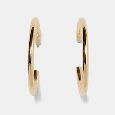 Gold Metallic Hoops