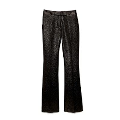 Shimmer Tuxedo-Stripe Pants