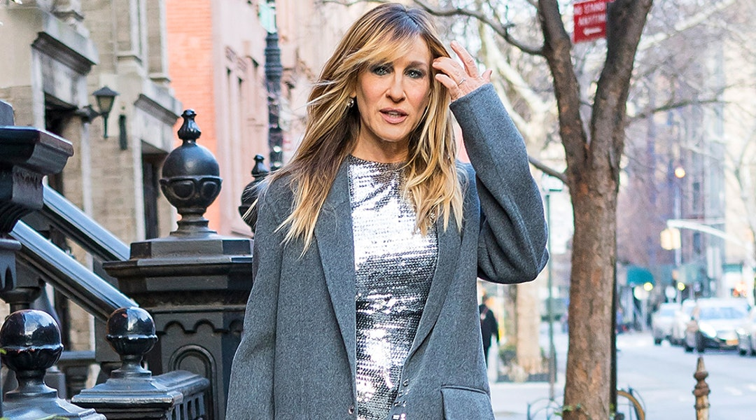 15c3a2a8f7a Winning Formula  Sarah Jessica Parker s Heel And Tights Look Is Perfection